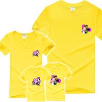一家四口可爱米奇家族亲子装短袖t恤