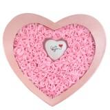 100朵玫瑰香皂花全粉加灯 超大爱心粉色礼盒